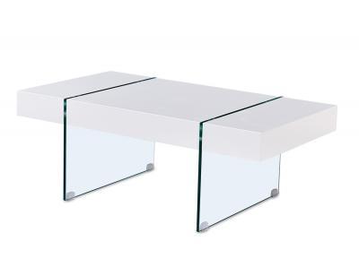 Mesa centro lacado blanco clara