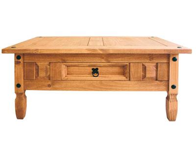 Mesa centro madera pino rustico