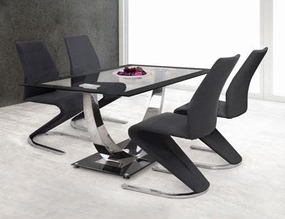 Mesa cocina cristal templado negra 282 386