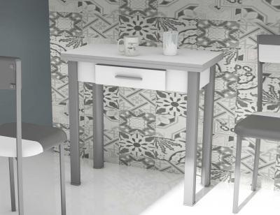 Mesa cocina extensible blanco