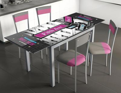 Mesa cocina extensible cristal 207 ny five