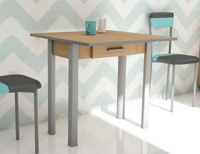 Mesa cocina extensible nogal