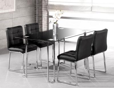 Mesa comedor cristal templado 248 negra 326