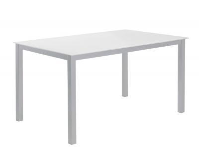Mesa comedor cristal templado blanco2