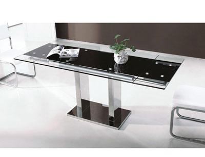 Mesa comedor cristal templado extensible