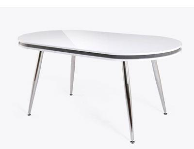 Mesa comedor esfera blanca 285