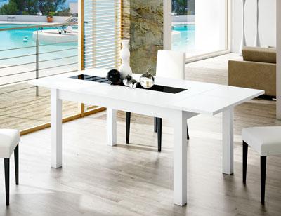 Mesa comedor extensible blanco 119