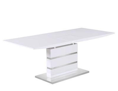 Mesa comedor extensible blanco 286