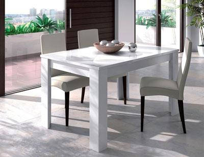 Mesa comedor extensible blanco