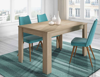 Mesa comedor extensible nature roble
