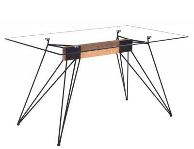 Mesa comedor fija cristal rods