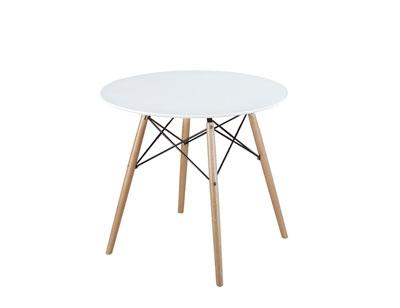 Mesa comedor redonda dm patas madera