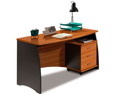 Mesa de oficina estudio gris castano