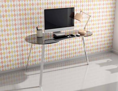 Mesa escritorio moderna tapa cristal negro