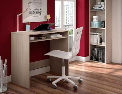 Mesa estudio roble ordenador