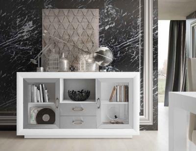 Mueble aparador salon blanco plata 16