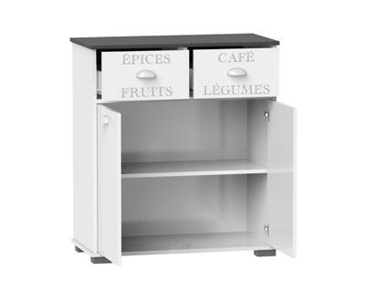 Mueble buffet bajo 2 puertas blanco 106