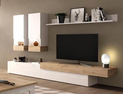 Mueble salon aura blanco brillo 201