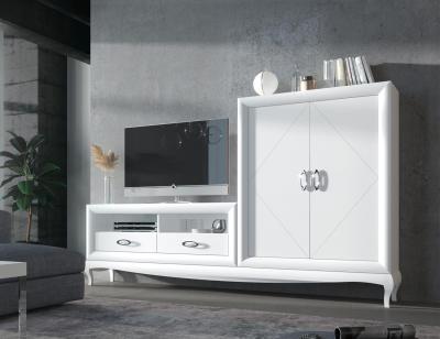 Mueble salon bancada blanco