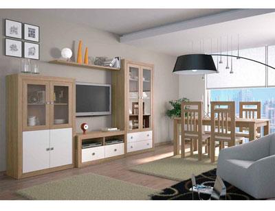 Mueble salon colonial cambrian blanco 03