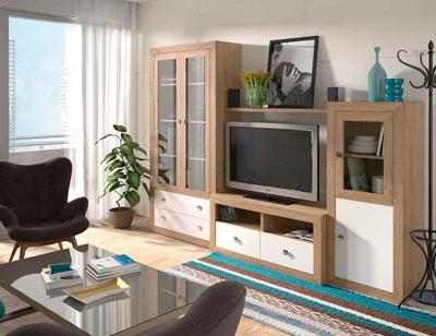 Mueble salon colonial cambrian blanco 07