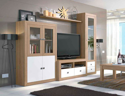 Mueble salon colonial cambrian blanco 091