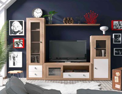 Mueble salon colonial cambrian blanco 11
