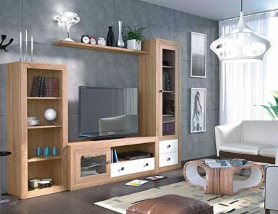 Mueble salon colonial cambrian blanco 13