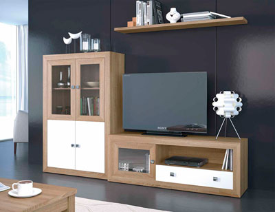 Mueble salon colonial cambrian blanco 14