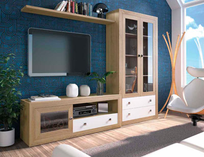 Mueble salon colonial cambrian blanco 15