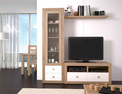 Mueble salon colonial cambrian blanco 19
