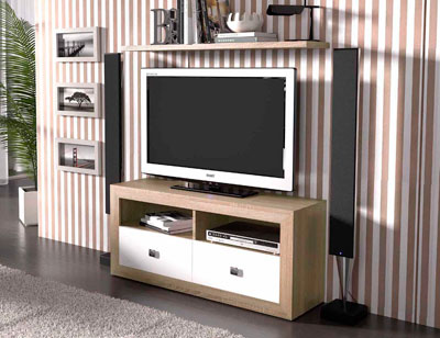 Mueble salon colonial cambrian blanco 21