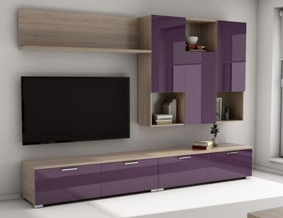 Mueble salon comedor 021 violeta 3