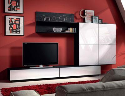 Aparador 3 puertas blanco brillo factory del mueble utrera for Mueble salon blanco brillo