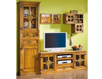 Mueble salon comedor madera jalisco girasol 203