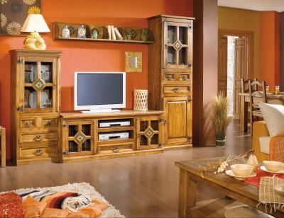 Mueble salon comedor madera jalisco girasol 261