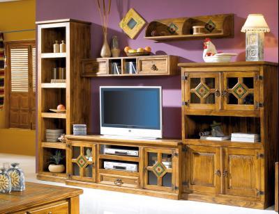 Mueble salon comedor madera jalisco girasol 290