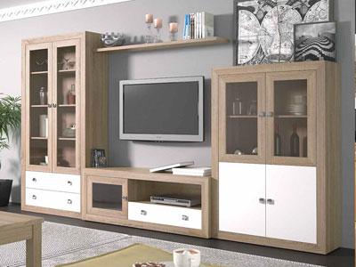 Mueble salon comedor moderno cambrian blanco