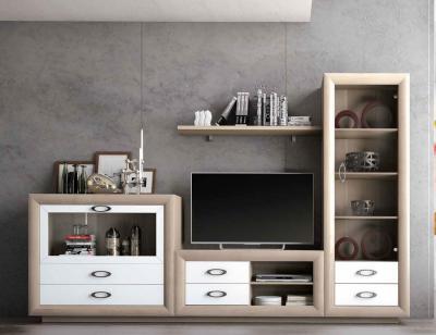 Mueble salon comedor neoclasico vitrina blanco 15
