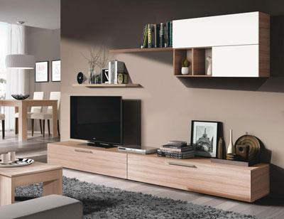 Mueble salon comedor roble natural
