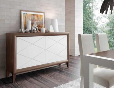 Mueble salon comedor romantico aparador nogal