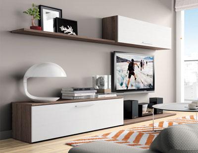 Mueble salon moderno britannia blanco 420