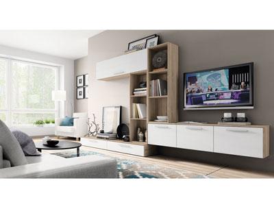 Mueble salon moderno cambrian blanco 412