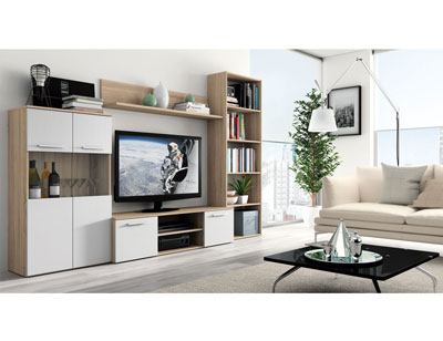 Mueble salon moderno cambrian blanco 416