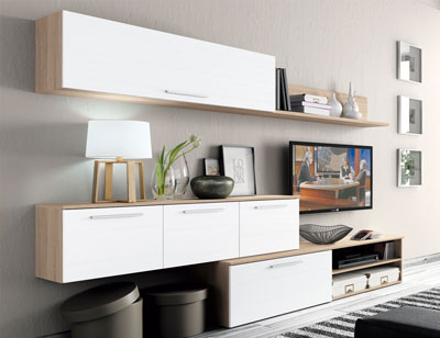 Mueble salon moderno cambrian blanco2