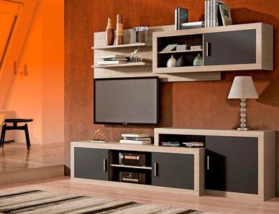 Mueble salon moderno cambrian grafito