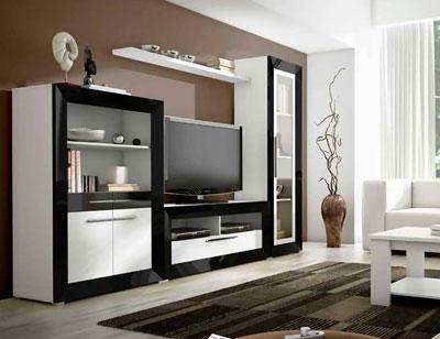 Mueble salon moderno madera dm 02