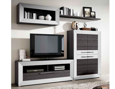 Mueble salon moderno madera dm 05