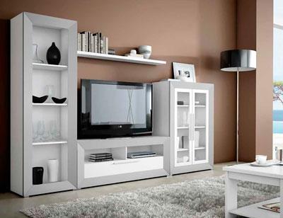 Mueble salon moderno madera dm 07