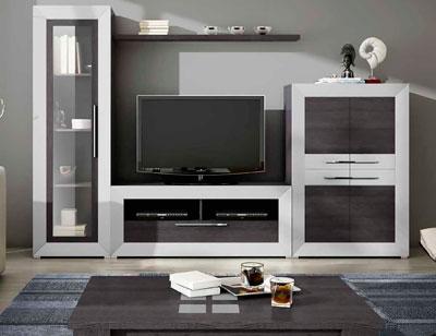 Mueble salon moderno madera dm 08